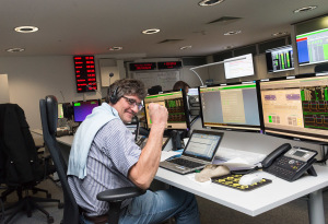 Flight Operations Director, Hervé Côme, celebrating success