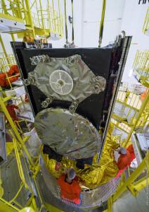 Satellites Installed on dispenser, secured atop Fregat upper stage