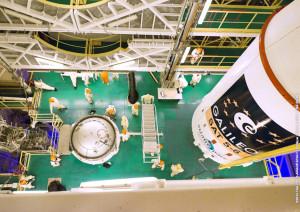 Upper composite next to Soyuz