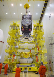 Galileos lowered onto Fregat upper stage