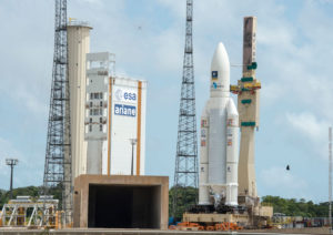 the-ariane-5-nears-completion-of-its-transfer-from-the-spaceports-final-assembly-building-to-the-ela-3-launch-zone