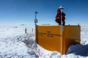 GPS receiver at Concordia Research Station, Antarctica