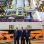Macron, Juncker and Wörner visit Europe's Spaceport